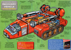 Recovery vehicle cutaway