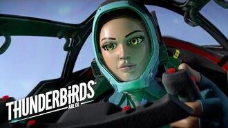 Kayo Chases Down A Bad Guy In Thunderbird S Thunderbirds Are Go Clip