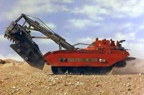 Excavator moving