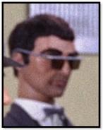 Man in dark glasses (New York)