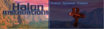 Halon sensor tower