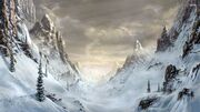 White mountain valley