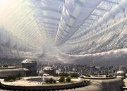 Future City Under The Dome Wallpaper acztb