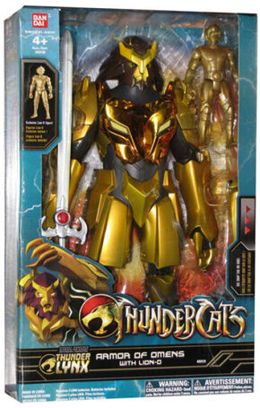 Bandai Bandai Armor of Omens with Gold Lion-O Box