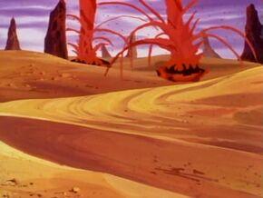 Desert of Lava Geysers
