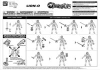 Bandai ThunderCats Lion-O Action Figure Instructions - 01