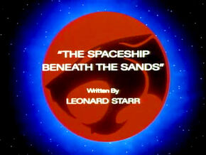 Spaceship Beneath the Sands Title Card