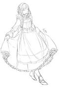 Illustration of Behemo wearing a fancier dress by Ichika