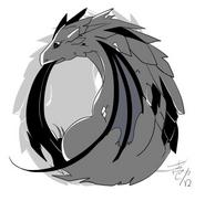 Chibi illustration of Levia-Behemo by Ichika