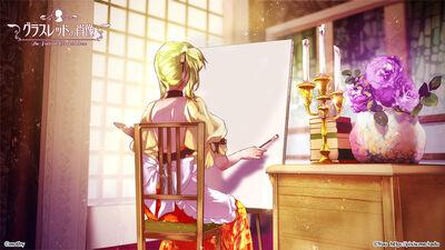 The portrait glassred drew by arcadia art-d93rubg