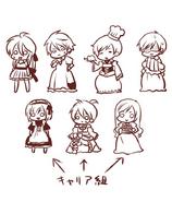 Illustration of Behemo's crossdressing by Tamara