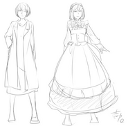 Concept art of Levia and Behemo by Ichika