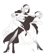 Illustration of Behemo and Levia by Ichika