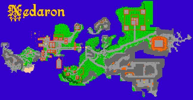 Nedaron map