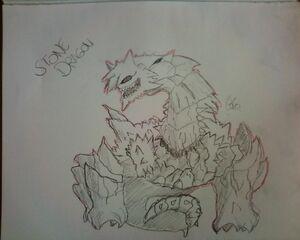 Stone Dragon by Kokitoo