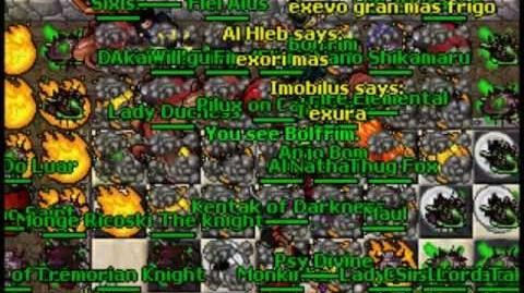 Tibia's 15th Anniversary! Testers Delany, Bolfrim and Siramal fight!