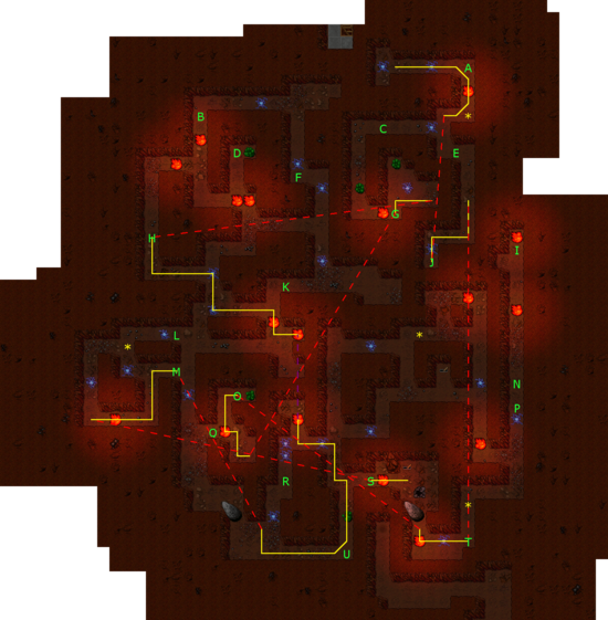 Pits of Inferno Maze Path Optimized