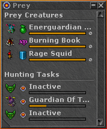 Prey Hunting Tasks Widget