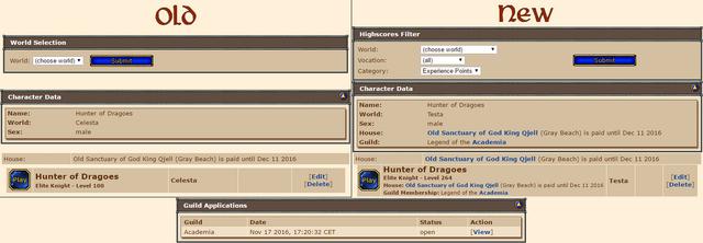 Website Changes WU16