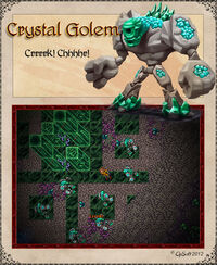 Damaged Crystal Golem Artwork