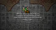 Lion's Quest Snake Inscription