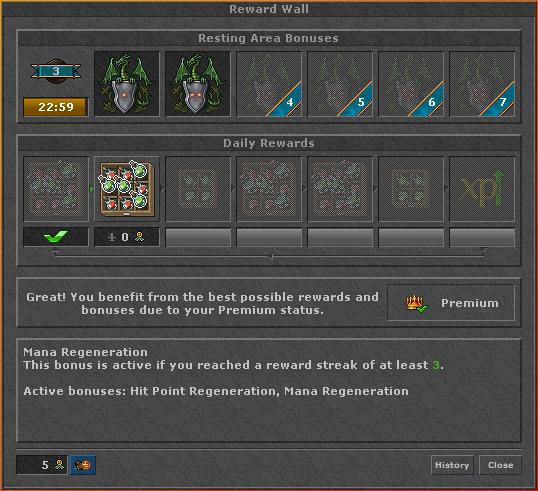 Daily Reward System | TibiaWiki | FANDOM powered by Wikia