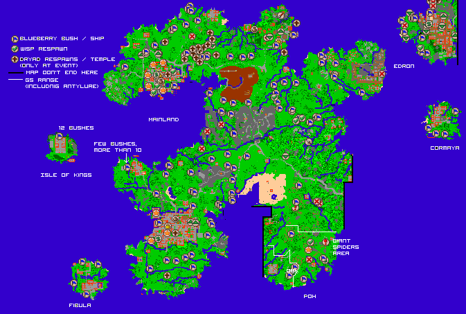Tibia World Map.Image Worldmap Marked Png Tibiawiki Fandom Powered By Wikia