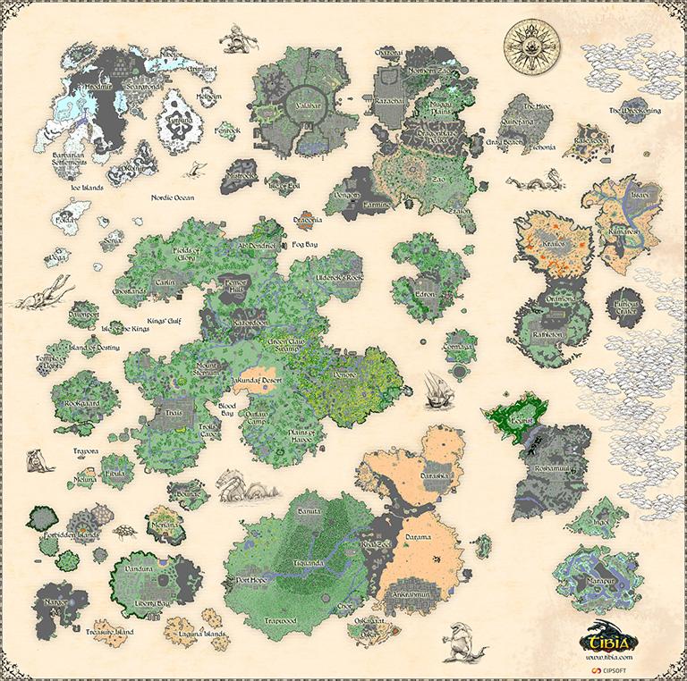 Tibia World Map.Tibia Continent Tibiawiki Fandom Powered By Wikia