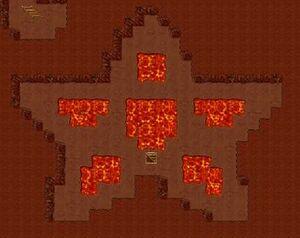 Desert dungeon pentagram room