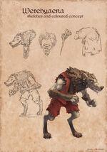 Werehyaena Concept Artwork