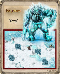 Ice Golem Artwork