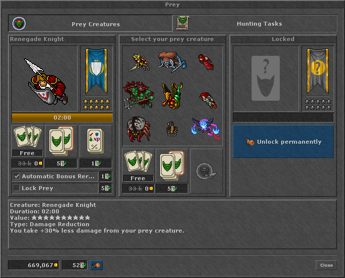 Prey System 2