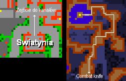 Combat knife quest mapka