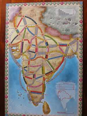 Ticket To Ride India Map.India Ticket To Ride Wikia Fandom Powered By Wikia