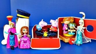 Tickety Toc Train Musical Pufferty Train with Disney Frozen Elsa, Peppa Pig and Sofia The First
