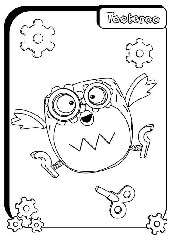 Image a4 colour in tooteroo jpg tickety toc wiki fandom Tickety Toc Toys Katie and Orbie Coloring Pages Tickety Toc Bubble Time