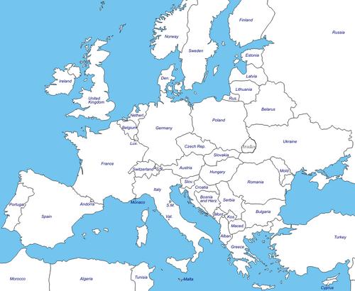 Europe Map werewolf