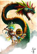 Quetzalcoatl dancer by marmottegarou-d5s7lpk