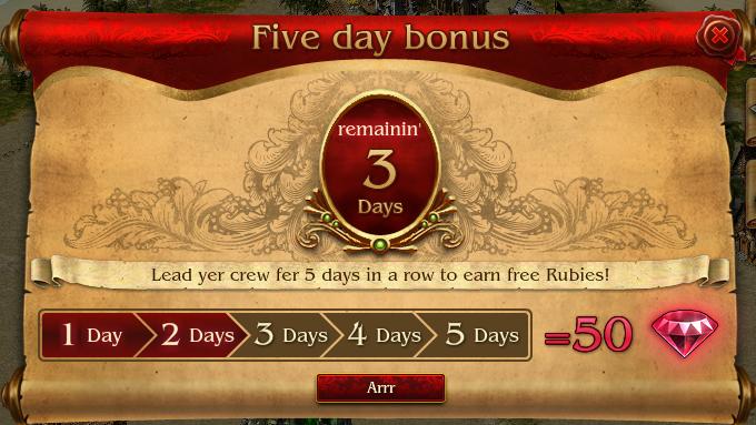 5-day Bonus