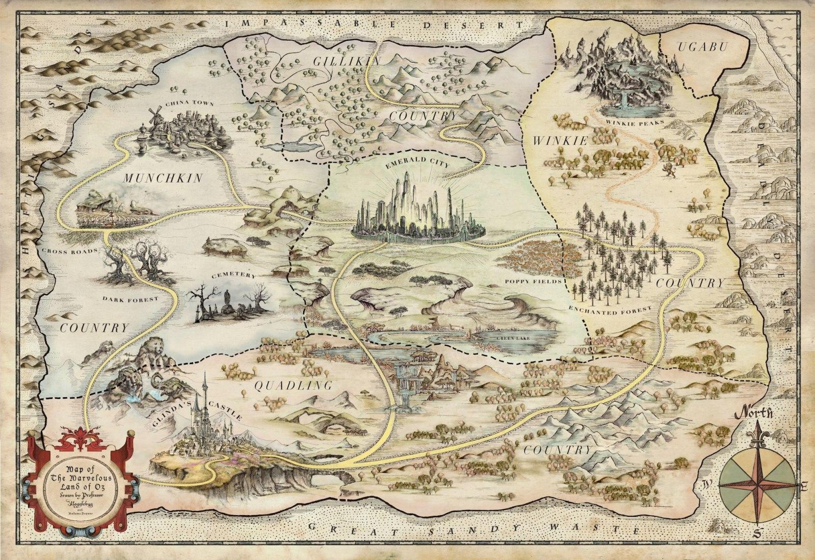 Imagen - Mapa Oz.jpg | Wiki Oz | FANDOM powered by Wikia