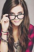 Tiffany wearing glasses