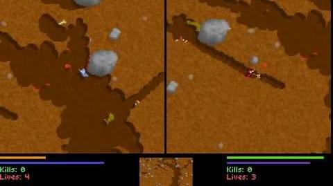 Liero gameplay