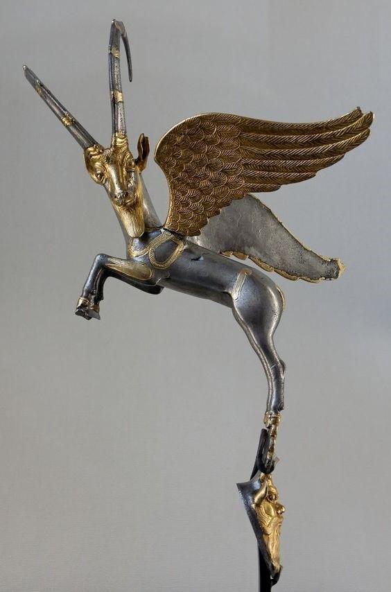 Winged ibex
