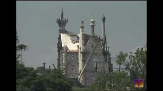 """From 1990 Building the """"Edward Scissorhands"""" castle"""