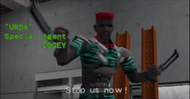 Edgey in the attract mode