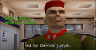 Derrick Lynch in the attract mode (Arcade version)