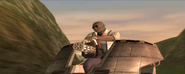 Buff Bryant aiming with Gatling gun (PS2 version)