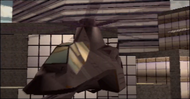 Attack helicopter in the attract mode (Arcade version)