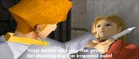 Sherudo Garo threatening Rachel MacPherson