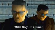 Ernesto Diaz sending Wild Dog (Arcade version)